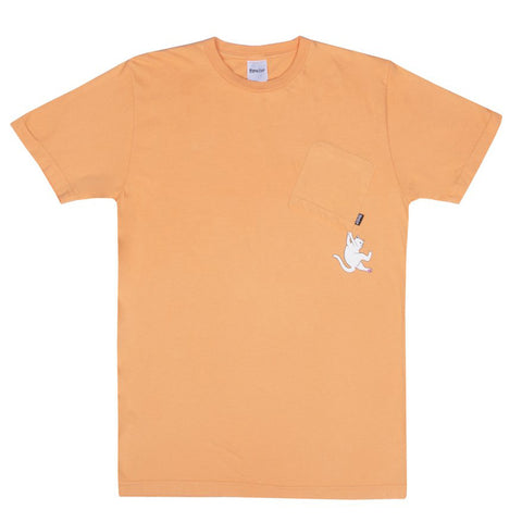 Hang In There Pocket T-shirt Orange