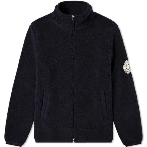 Borg Zip-Through Fleece Jacket Navy