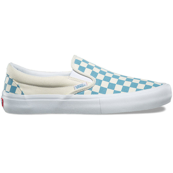 Slip On Pro Checkboard Adriatic Blue White