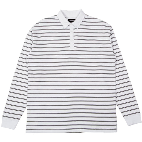 Channel Rugby LS Polo White Black