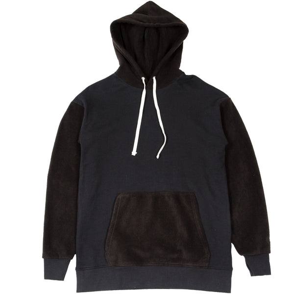 Mismatch Rugger Hood Sweat Black