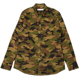 LS japanese Oxford Camouflage Print Brown