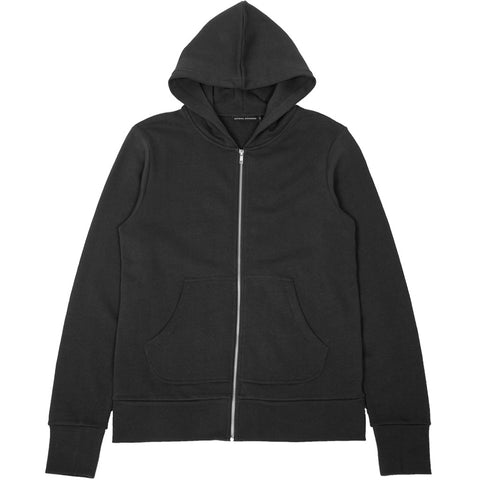 French Terry Zip Hoodie Charcoal