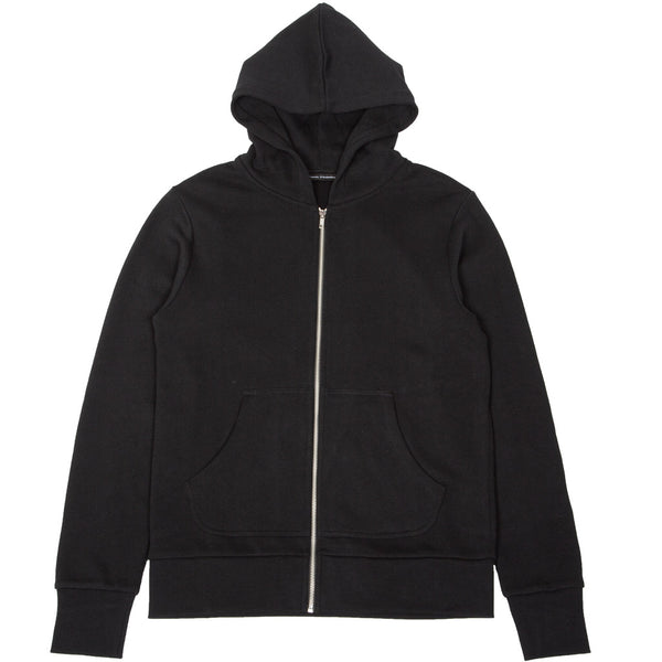 French Terry Zip Hoodie Black
