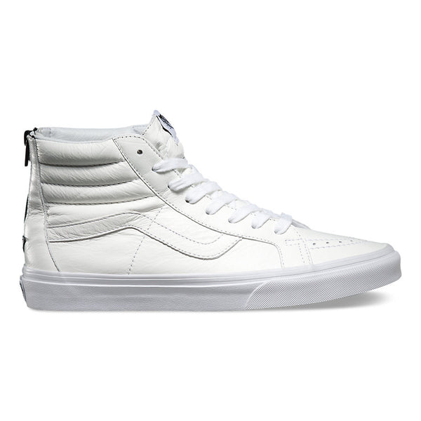 Sk8-Hi Reissue Zip (Premium Leather) True White