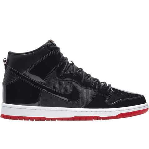 Zoom Dunk High TR Black Black White Varsity Red