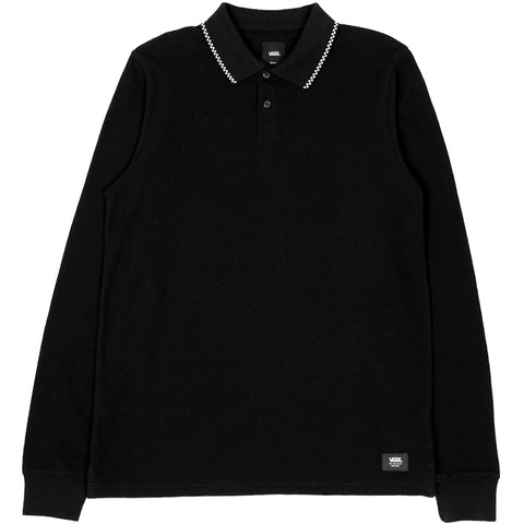 Check Tip LS Polo Black