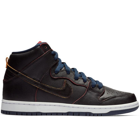 Dunk High Pro NBA Black College Navy Team Red