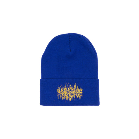 Black Metal Skully Blue