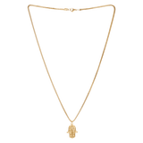 Hamsa Necklace Gold