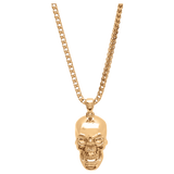 Skull Necklace Gold