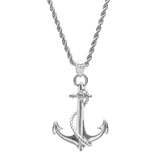 Anchor Necklace White Gold