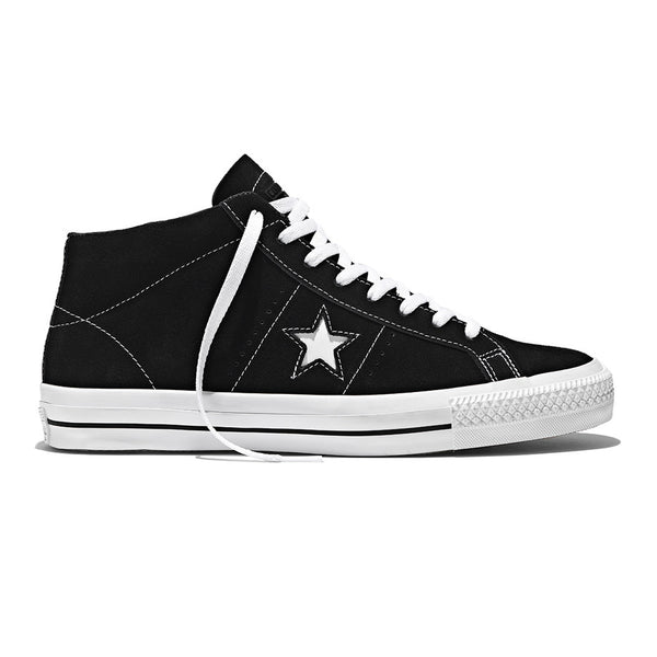 One Star Pro Suede Mid Black White