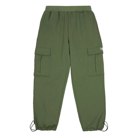 Dime Cargo Sweat Pants Military Green