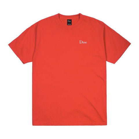 Dime Classic Logo Embroidered T-Shirt Tomato