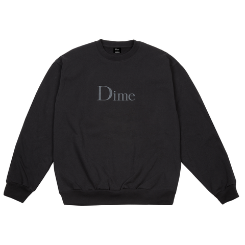 Dime Classic Logo Embroidered Crewneck Black