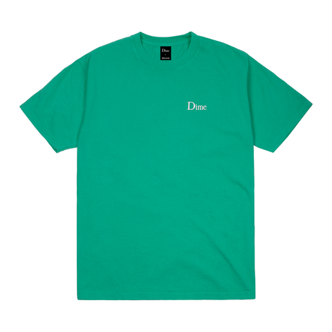 Dime Classic Logo Embroidered T-Shirt Emerald