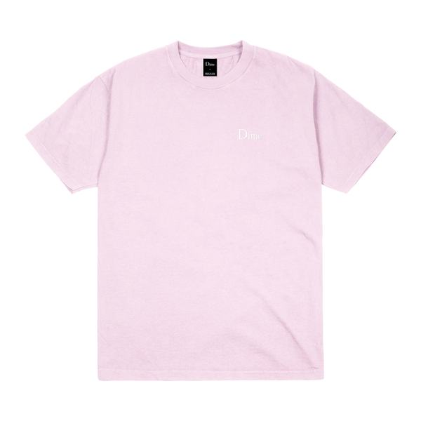 Dime Classic Logo Embroidered T-Shirt Light Pink