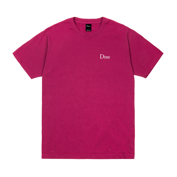DIme Classic Logo Embroidered T-Shirt Ruby