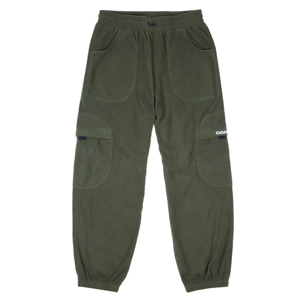 Fleece Round Cargo Pants Olive