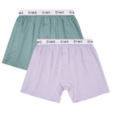 Dime Loose Fit Boxers Green Light Purple 2 Pack