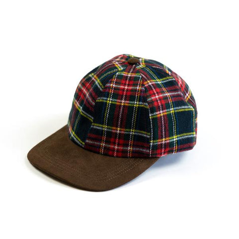Plaid Hunting Cap Black