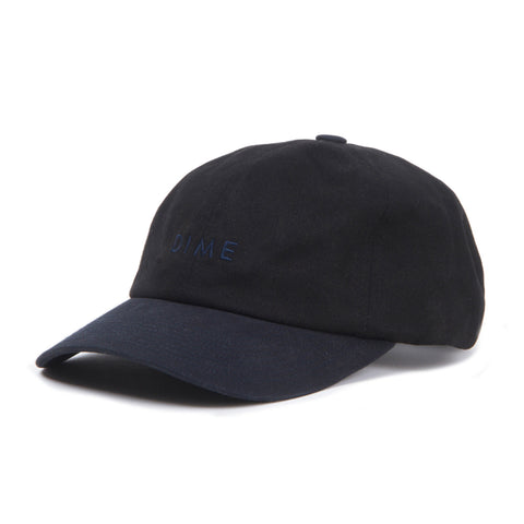 Dime Short Brim 6 Panel Black/Navy