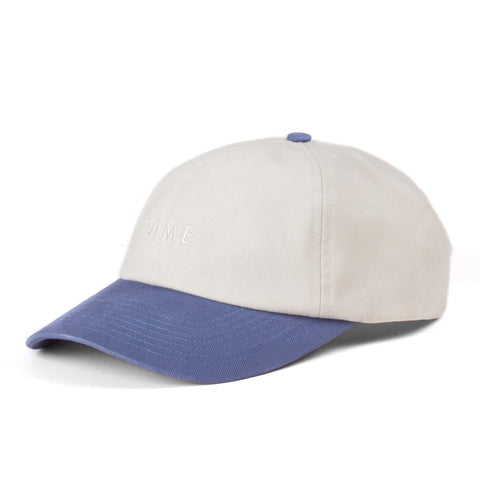 Dime Short Brim 6 Panel White/Blue