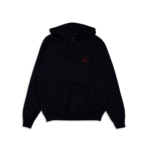 Direct Logo Hoodie Navy Red