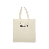 Direct Logo Tote Bag Natural Black
