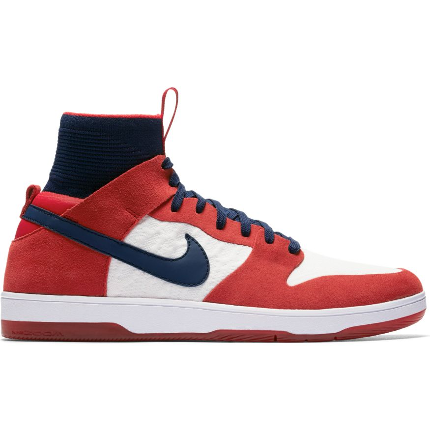 a7949c4bf6c1 Zoom Dunk High Elite University Red College Navy White