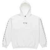 Racing Hooded PO Fleece White