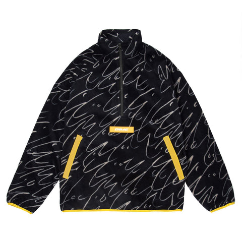 Faces Quarter Zip Fleece Black