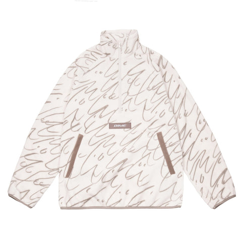 Faces Quarter Zip Fleece Cream