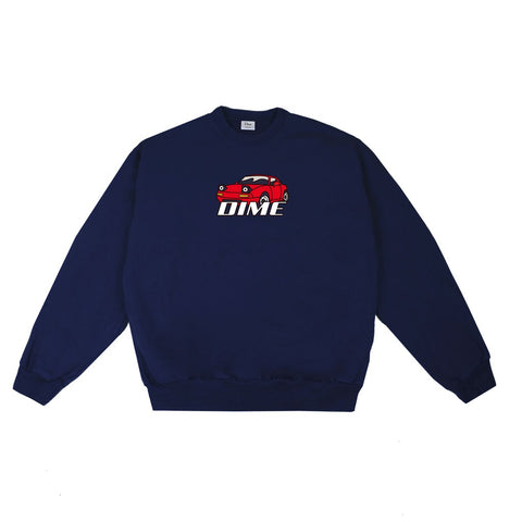 Fast-Looking Car Crewneck Navy