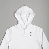 Jed LS Hooded Pullover White