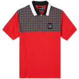 RS Check Yoke Pique Shirt Goji Berry