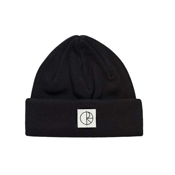Double Fold Cotton Beanie Black
