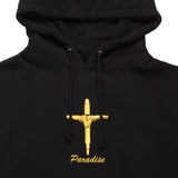 Gold Crucifix Hood Black