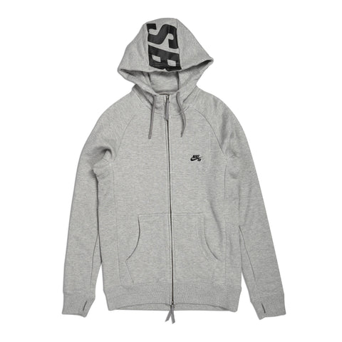 Everett Graphic Full Zip Dk Grey Heather