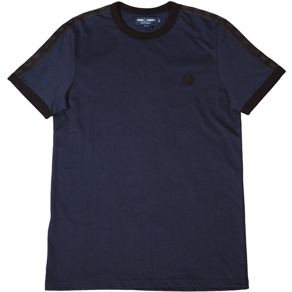 Tonal Taped Ringer T-Shirt Washed Navy