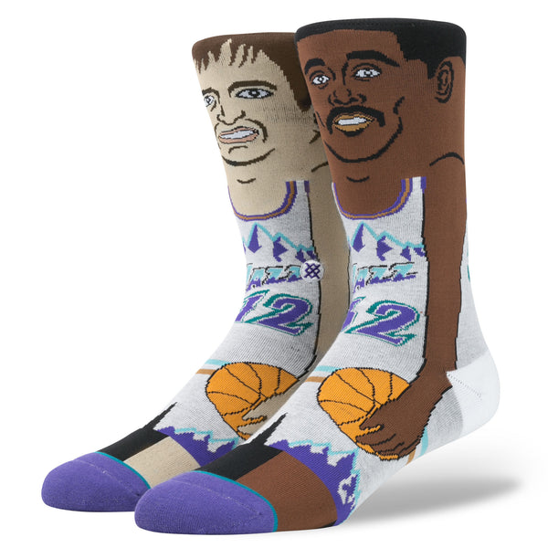 NBA Cartoon Stockton Malone Purple
