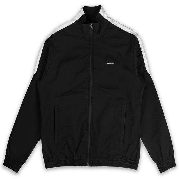 JumpShot Track Jacket Black White