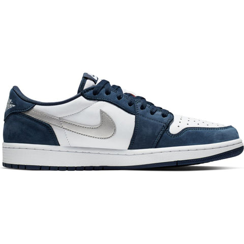 a86a7662dd2eb Nike SB x Air Jordan 1 Low QS Midnight Navy Metallic Silver