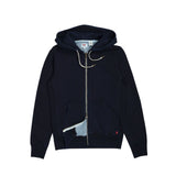 Original Zip Up Hoodie Indigo x