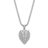 Lion Necklace White Gold