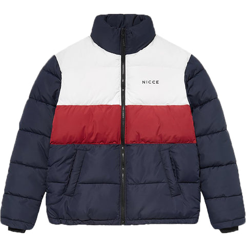 Deca Jacket White Deep Navy Merlot Red