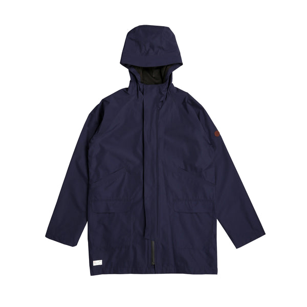 Seam Sealed Hooded Rain Mac Dark Navy