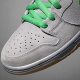 Dunk High Premium Metallic Silver Hyper Verde Gum Yellow