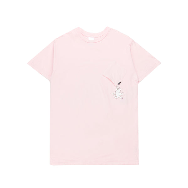 Pocket T-Shirt Hang In There Nermal Pink
